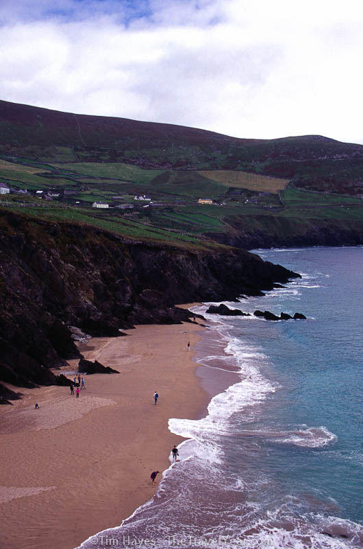 A beach in the beautiful Dingle Peninsula, reaching off Ireland's west coast along the Atlantic.
